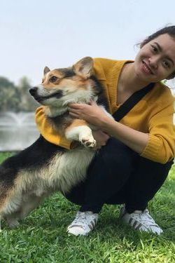 Havy and her beloved dog