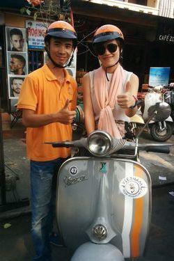 Hong Yen and Vespa