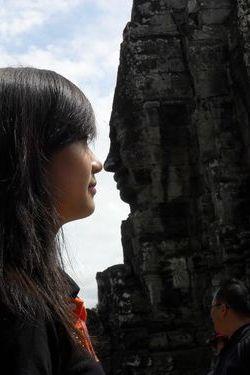 Huyen Trang in Cambodia