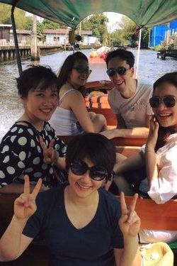 Thuy with her friends
