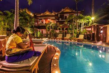 Hotel Red Canal Mandalay at night