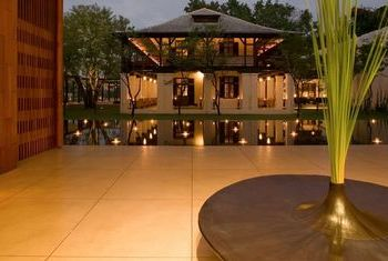 Anantara Chiang Mai Resort pool at night