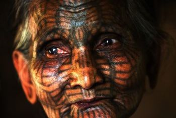 The Story of the Face-Tattooed Women in Chin State - Myanmar