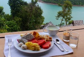 Santhiya Koh Yao Yai Resort & Spa pool breakfast