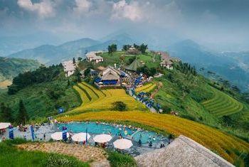 Topas Ecolodge terraced rice fields
