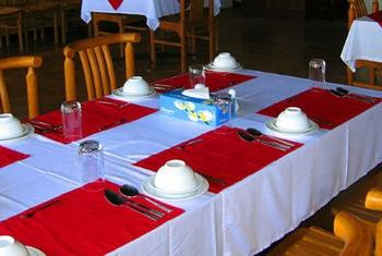 Golden Rock Hotel table