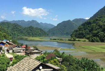 Ba Be Lake View Homestay rice field view