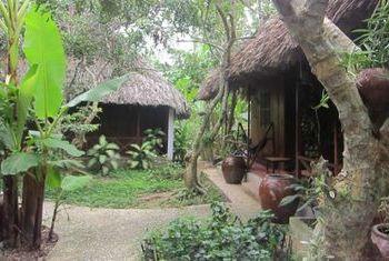 Le Jardin Du Mekong Homestay Room looking over Garden