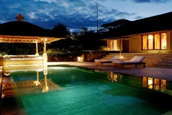 Amankila pool at night