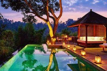 Como Shambhala Estate pool at night
