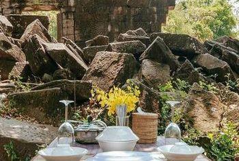 Banteay Chhmar Tented Camp tea area