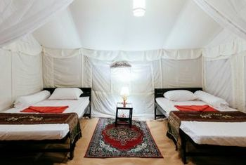 Banteay Chhmar Tented Camp Bed room