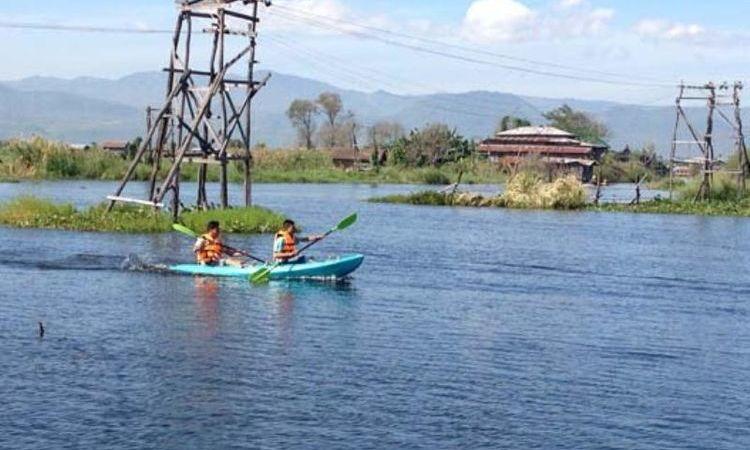 Kayaking on Inle Lake - Myanmar