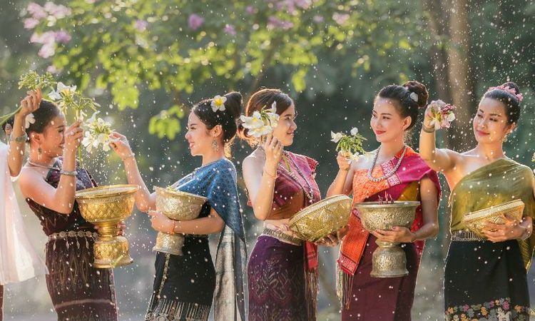 Buddhist New Year or Water Festivals in Southeast Asia