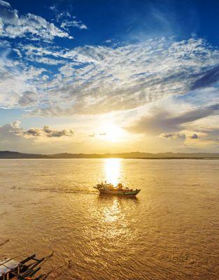 Myanmar Ankunft mit der Kreuzfahrt
