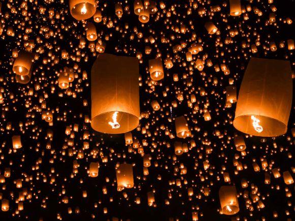 Release a lantern at Lantern Festival