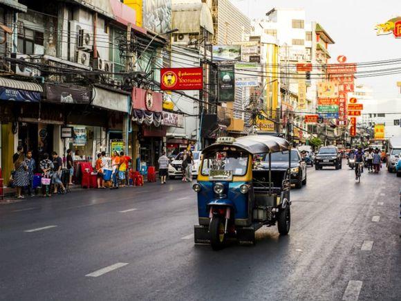 Explore Bangkok on a tuk tuk
