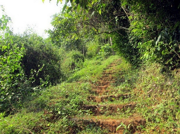 The road to Tien Phi Cave