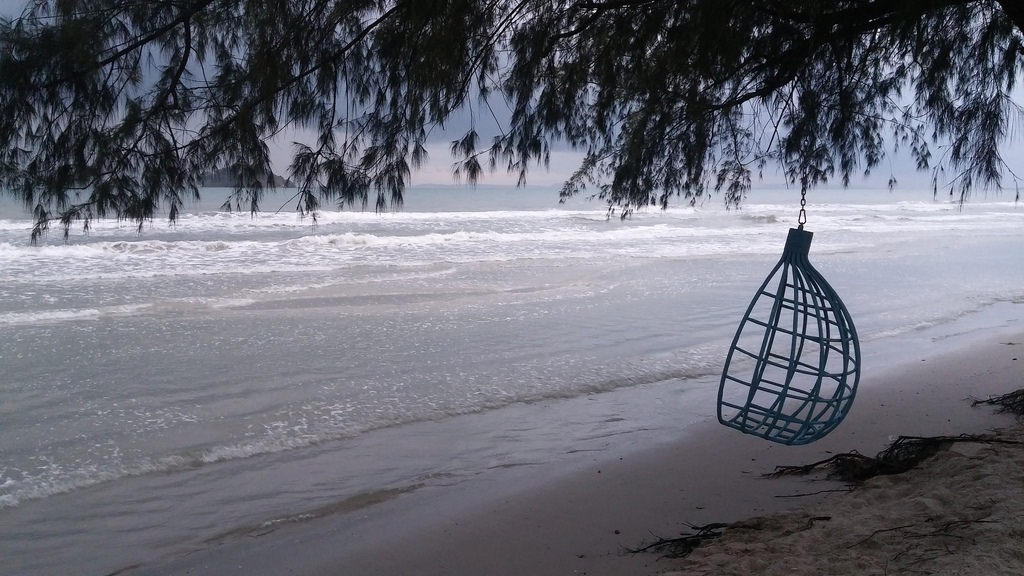 White sandy beaches along the untouched Sihanoukville