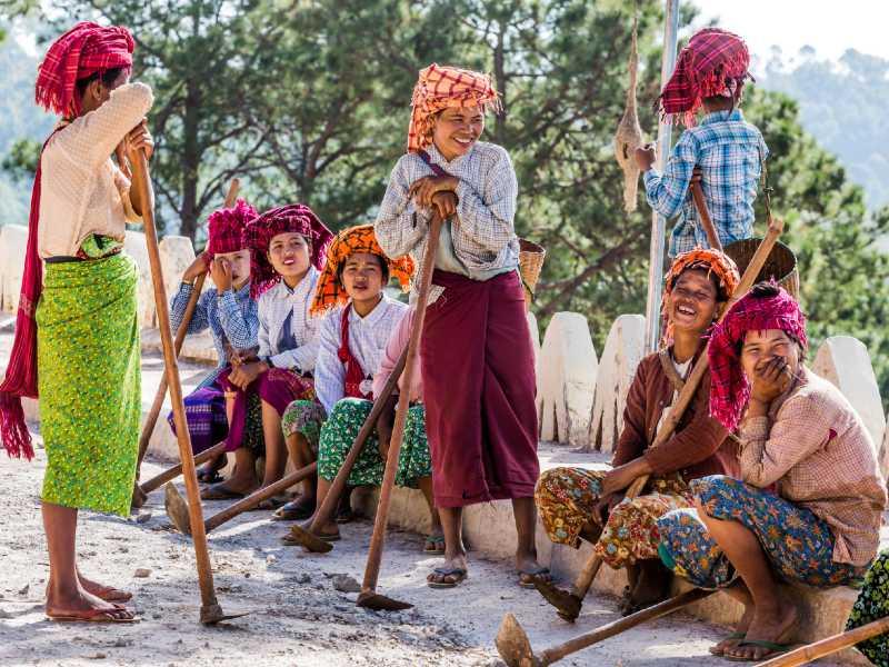 Longyi Rhythm In Myanmar