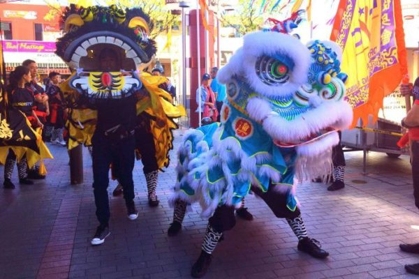 the lion dance parade