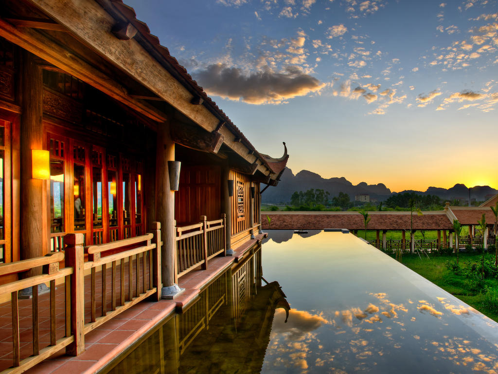 Emeralda Resort is designed closely to nature with northern traditional Vietnamese architecture