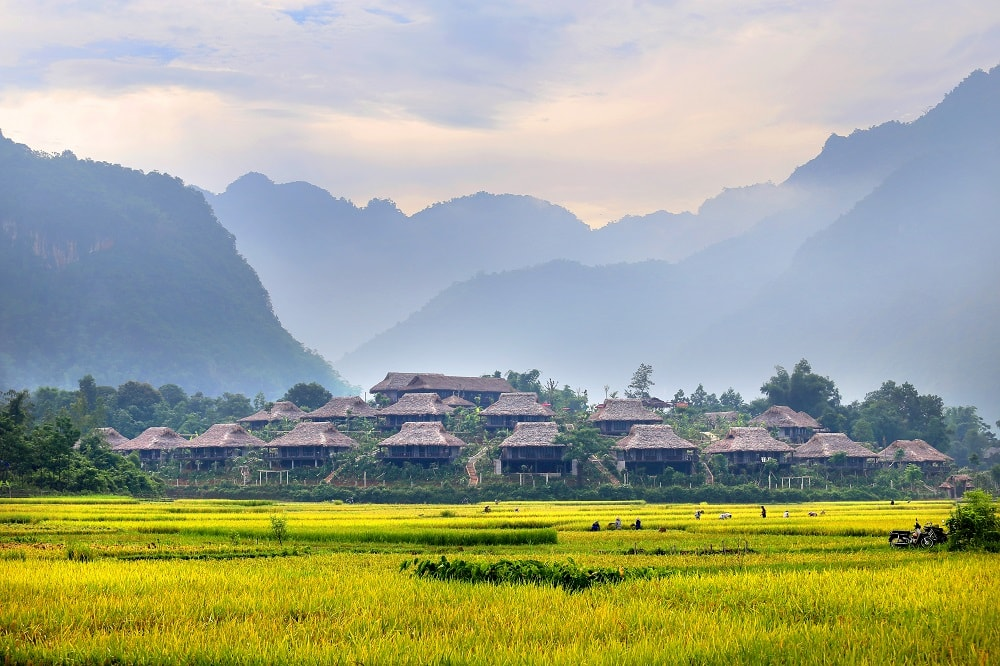 Sitting atop a private hill, Mai Chau Ecolodge likes a secret amidst the peaceful world