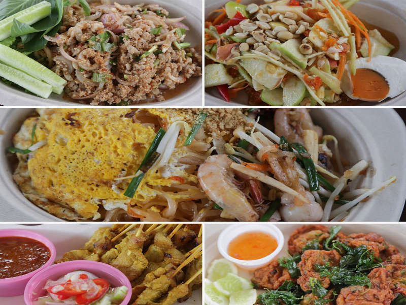 Bang Khla floating market's food