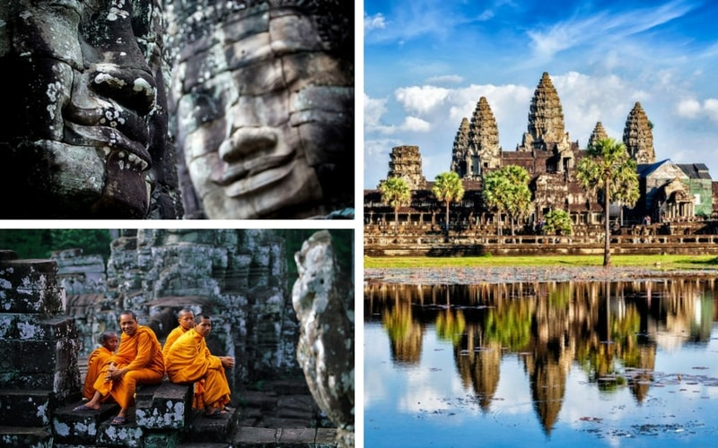 Angkor Wat and Angkor Thom turns Seam Reap into a wonderland for history and religious lovers