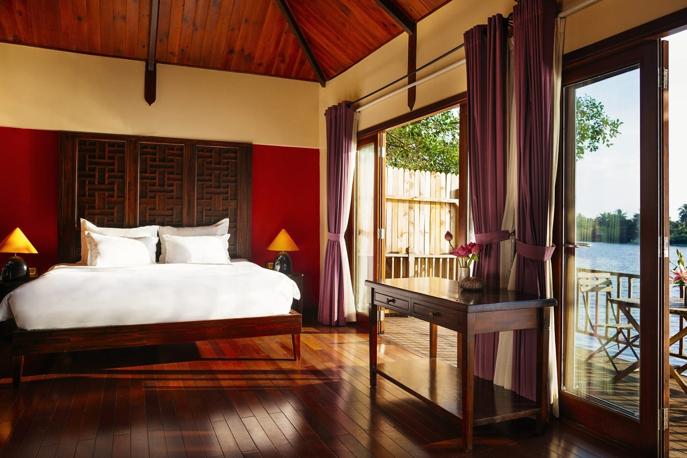 Each room is decorated with contemporary local touches, feature king bed, cold stone, rich warm wood, and private balcony