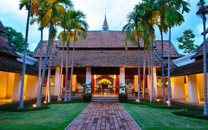 The historic Rachamankha Chiang Mai