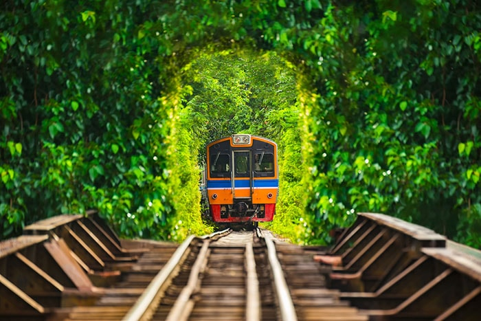 Travelling by train is convenient and popular. The trains depart from Bangkok's Hua Lamphong Station and offers some of Thailand's beautiful sceneries