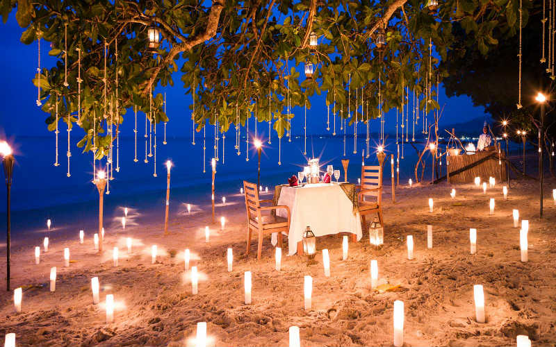 An idyllic setting for your romantic dinner