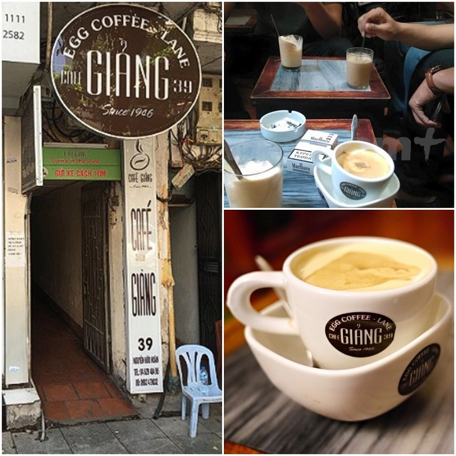 Egg coffee - a special drink of Giang Coffee