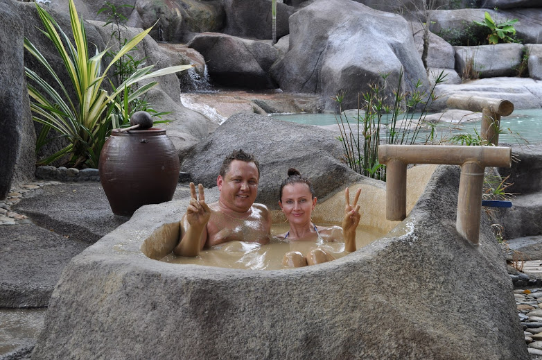 Mud bathing at I-Resort Spa