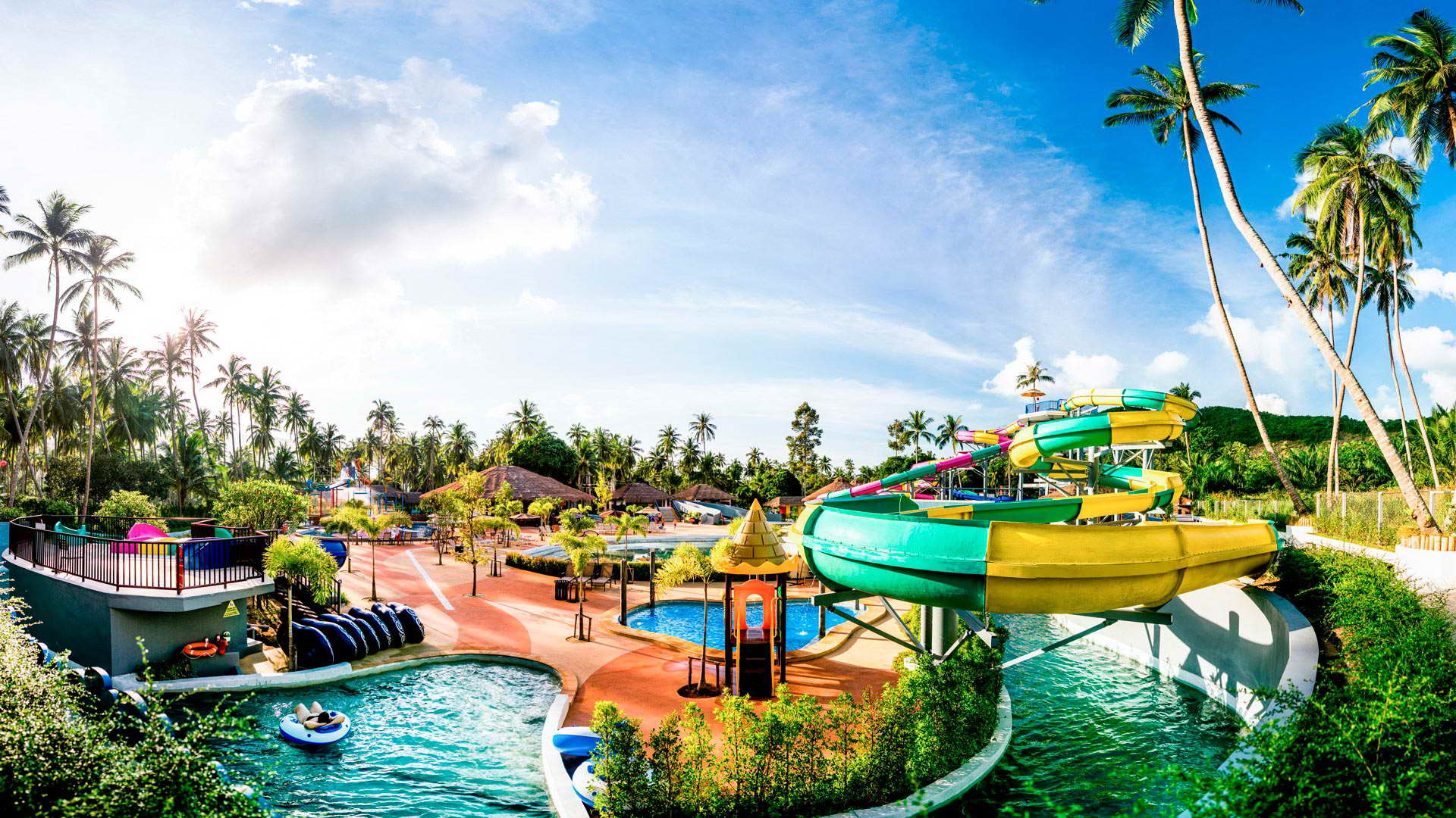 Samui Water Park - one of the most attractive sites for kids