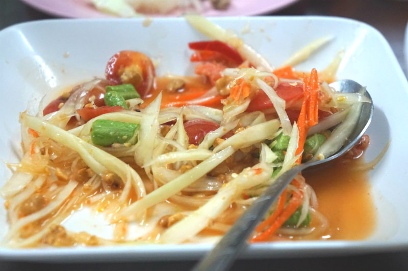 Green Papaya Salad- Thailand food