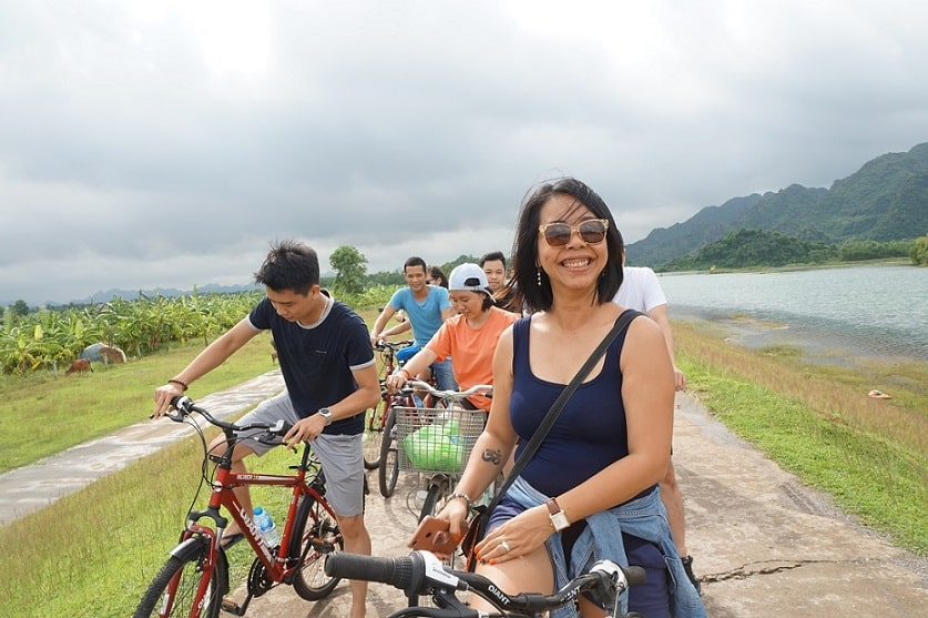 We enjoyed very much the beautiful countryside of Ninh Binh
