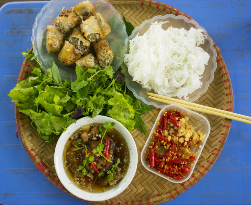 What a typical set of Bun Cha looks like