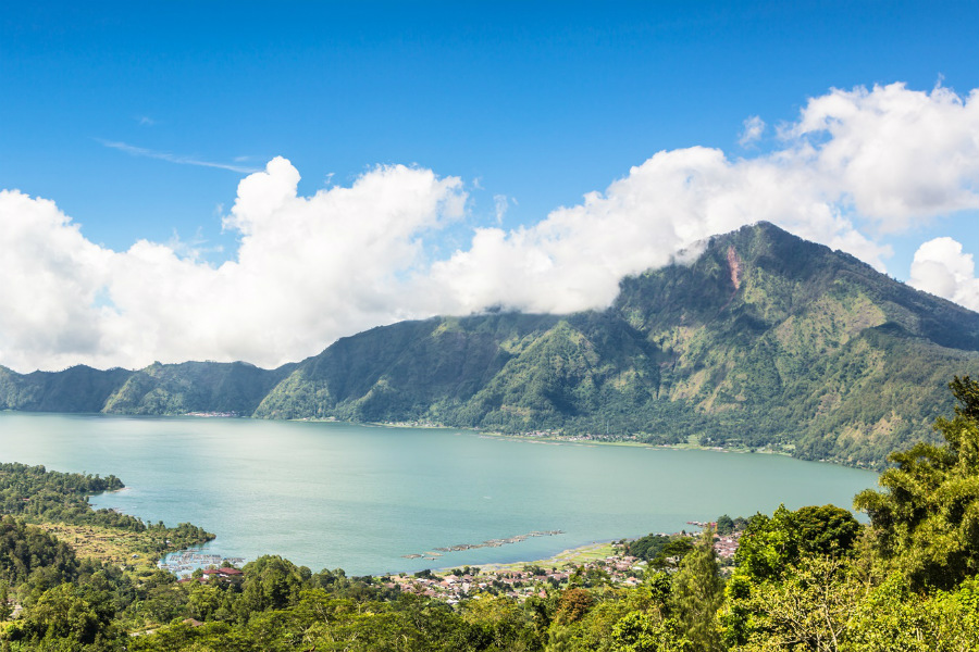 Lake Batur is a crater lake in Bali. It's one of five important sites of the thousand-year-old Subak system