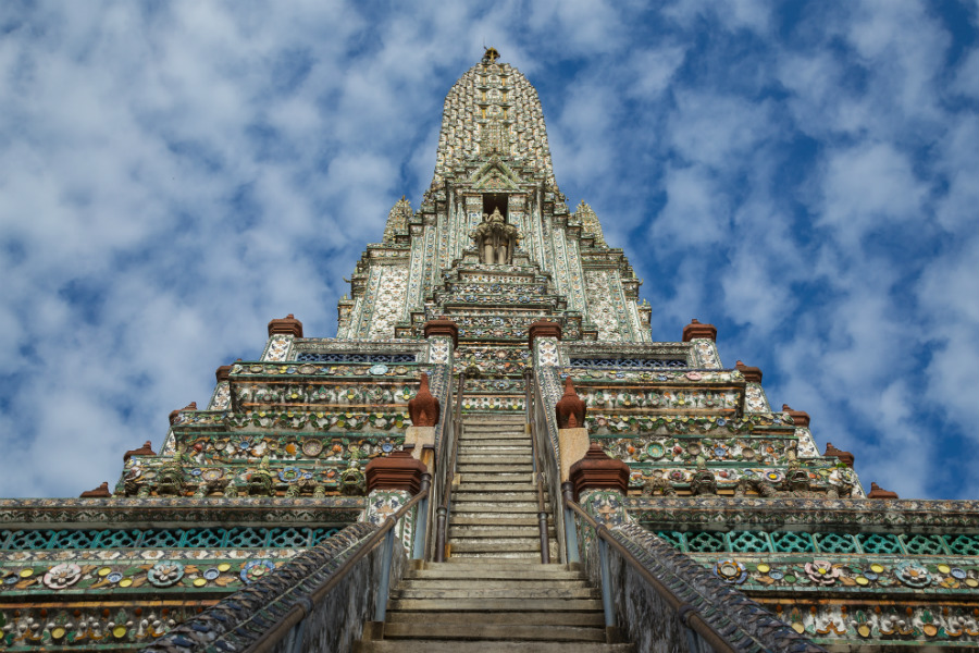 Steep Stairways to the Top of Wat Arun
