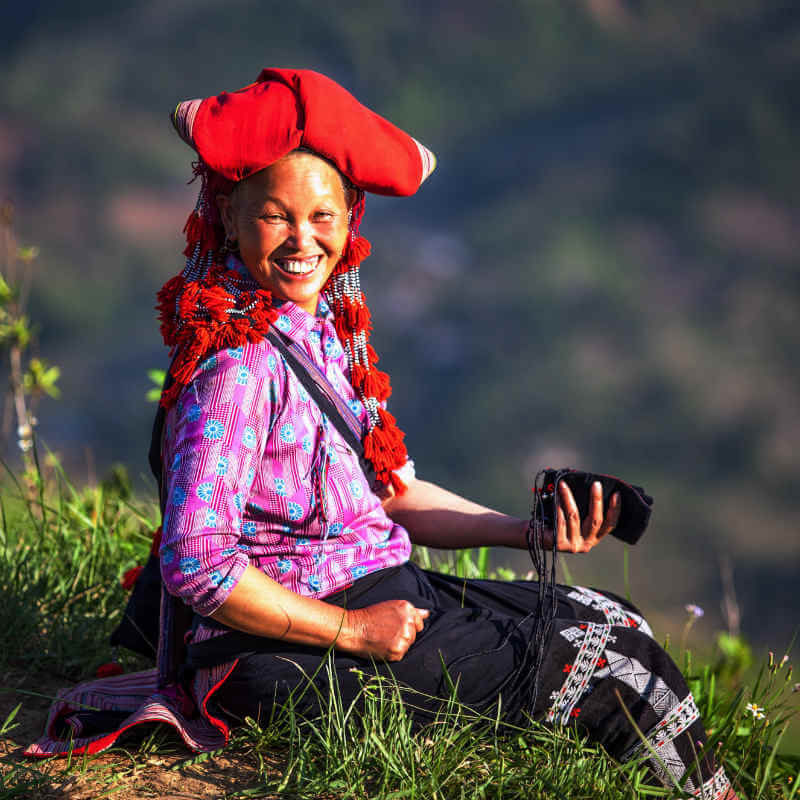 There are dozens of ethnic minorities in Vietnam, giving this country a wild diversity of culture and lifestyle. Each tribe has its own costumes, language, and traditional practice