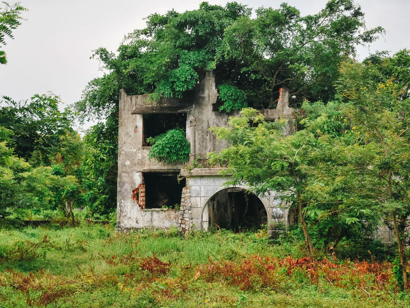 One in more than hundred of abandon colonial villas