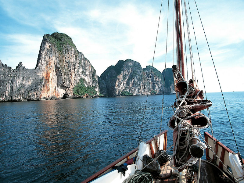 Cruising in Phang Nga Bay, in the Andaman sea
