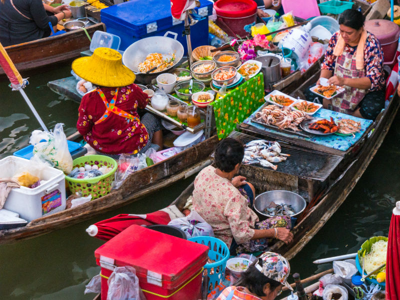 Visit the floating markets