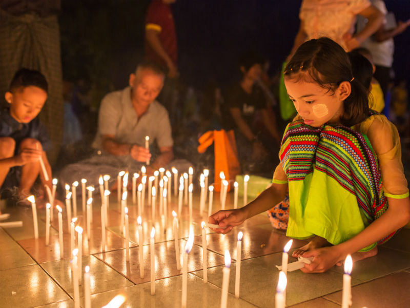 Join the Shwe Kyin Floating Light Festival at Bago