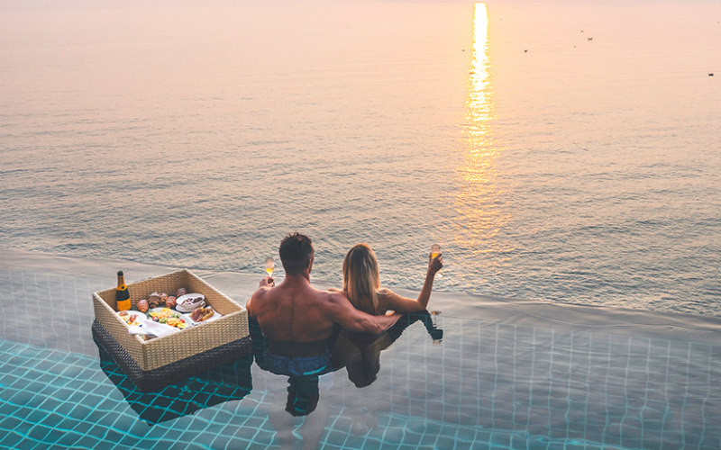 Nourish your romance with a floating breakfast on the pool or let the resort's therapists who have been trained at the Spa Academy in Thailand and Indonesia awake your senses at the award-winning world-class spa