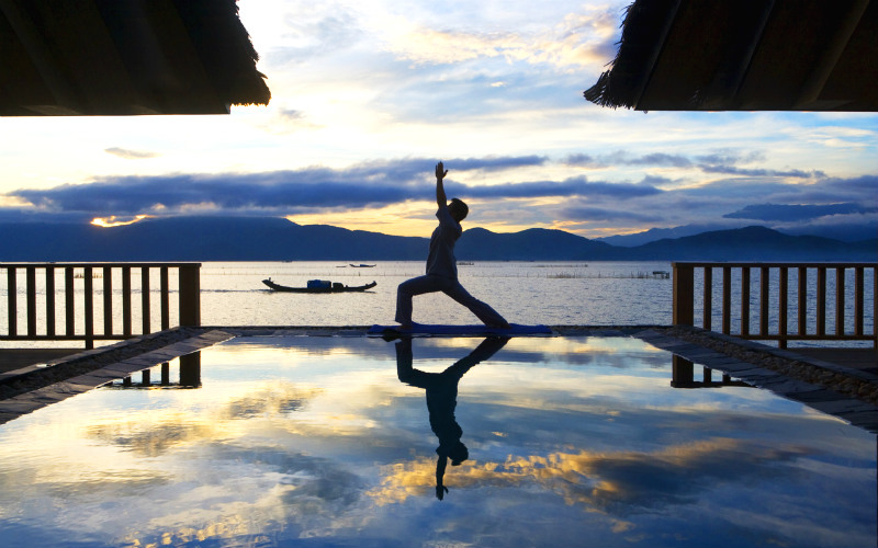 Tranquil and serene, this resort will put you in a Zen mood most of the time