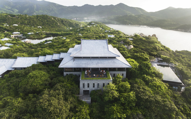 This resort in the rugged landscape of southern coast Vietnam