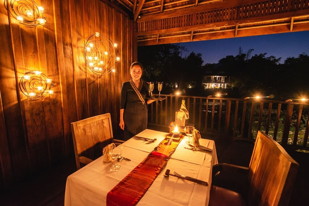 Candle diner in private tower on the Island muangla